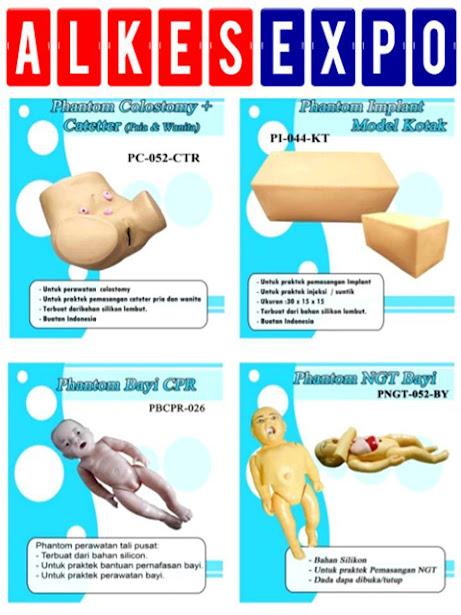 Phantom-Colostomy-Catheter-Pria-Wanita-Implan-Kotak-Bayi-CPR-NGT-Alkes-Expo