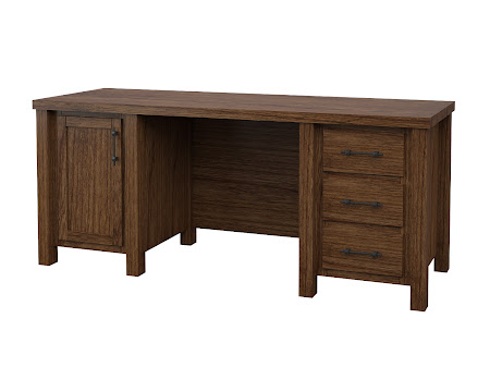 Ashton Executive Desk in Cocoa Cherry