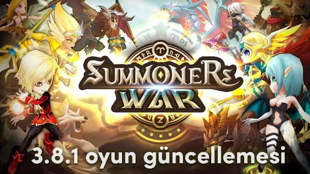 Summoners War  3.8.1 Güncelleme Detayları