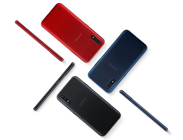 ألوان هاتف سامسونغ غالكسي Samsung Galaxy A01:
