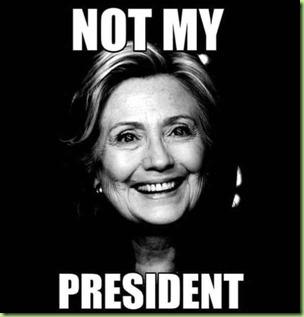hillary not my president