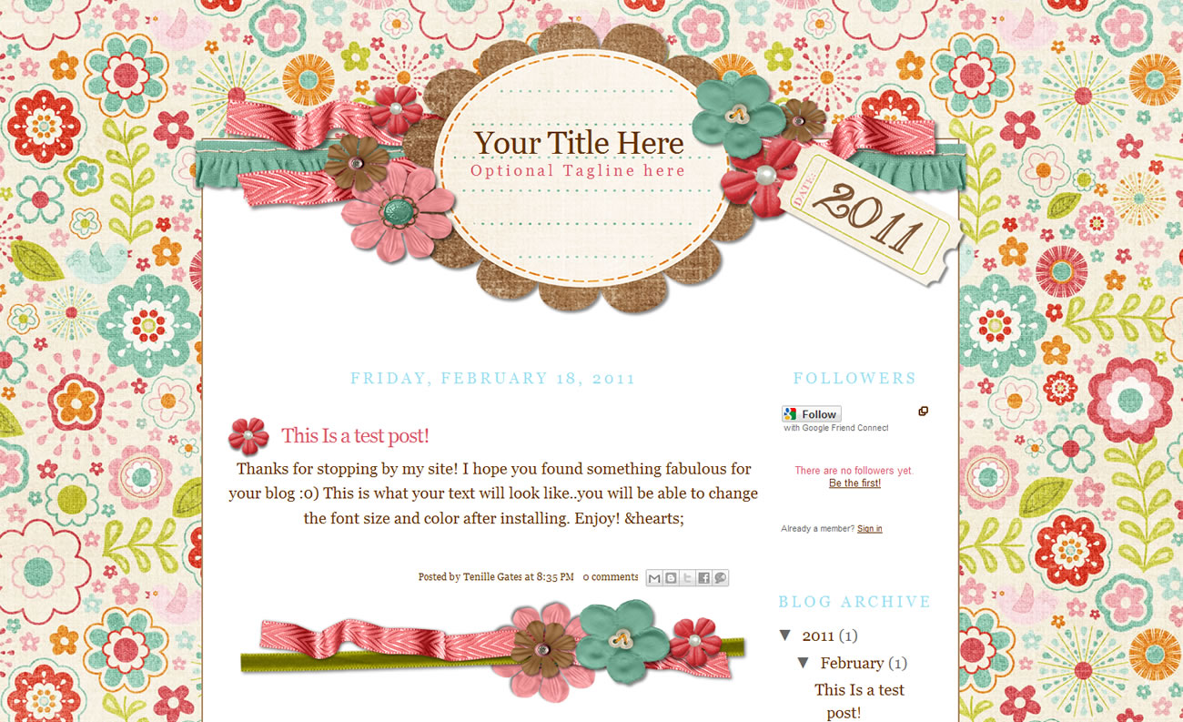 Freebie Friday: Cute Blogger Templates