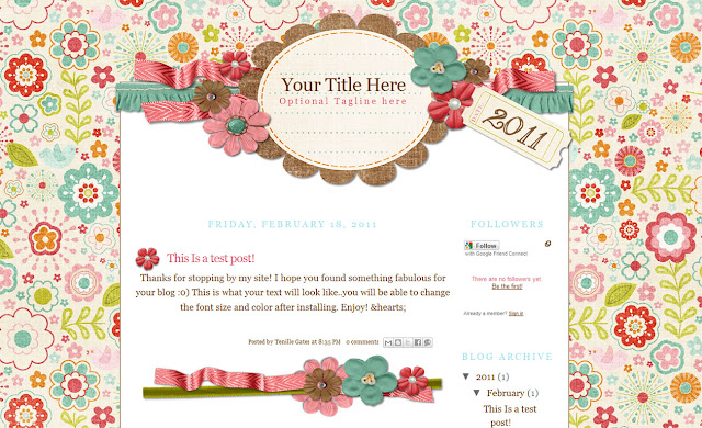 frolicpreview2column Freebie Friday: Cute Blogger Templates