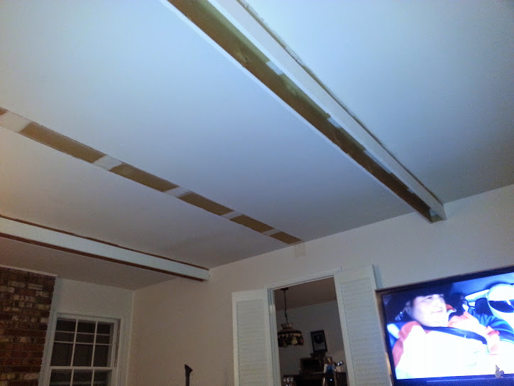 Fascade Beams in the Family Room