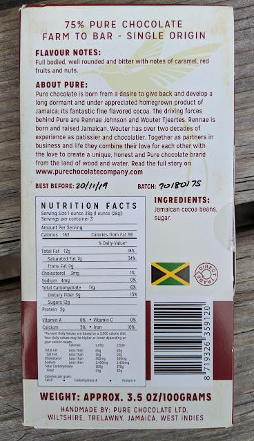 75% pure jamaica chocolate