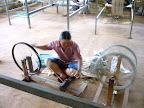 Preparing the yarn for weaving