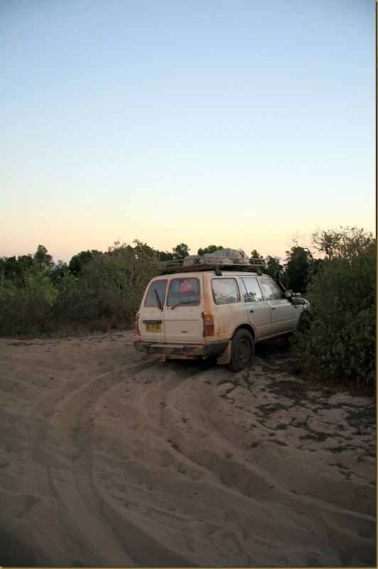Now that is some serious parking skill. Sand driving near Broome, Western Australia