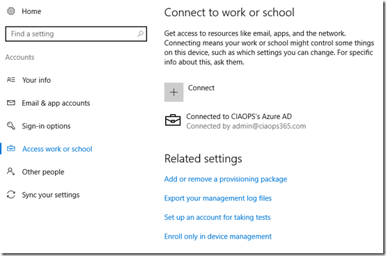 Joining Windows 10 machines to Office 365 – CIAOPS