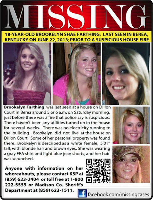Brookelyn Farthing is a missing 18 Year Old out of Berea, Kentucky | Momma Loves True Crime