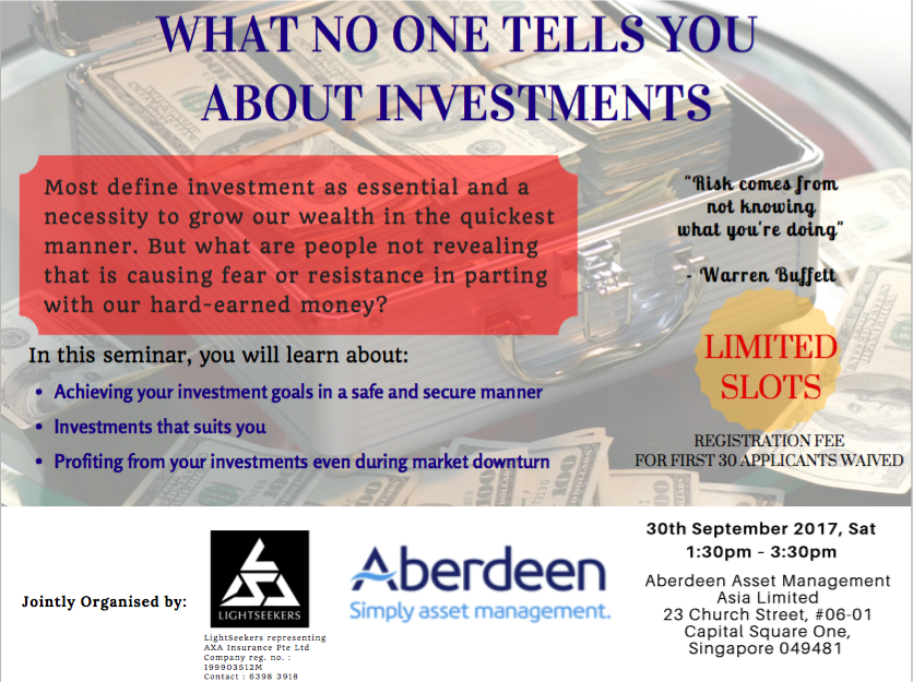 What no one tells you about investment