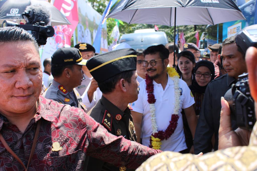 Kapolres Sergai AKBP Robin Simatupang Hadiri Kunjungan Kerja Menteri Pertanian RI SYL
