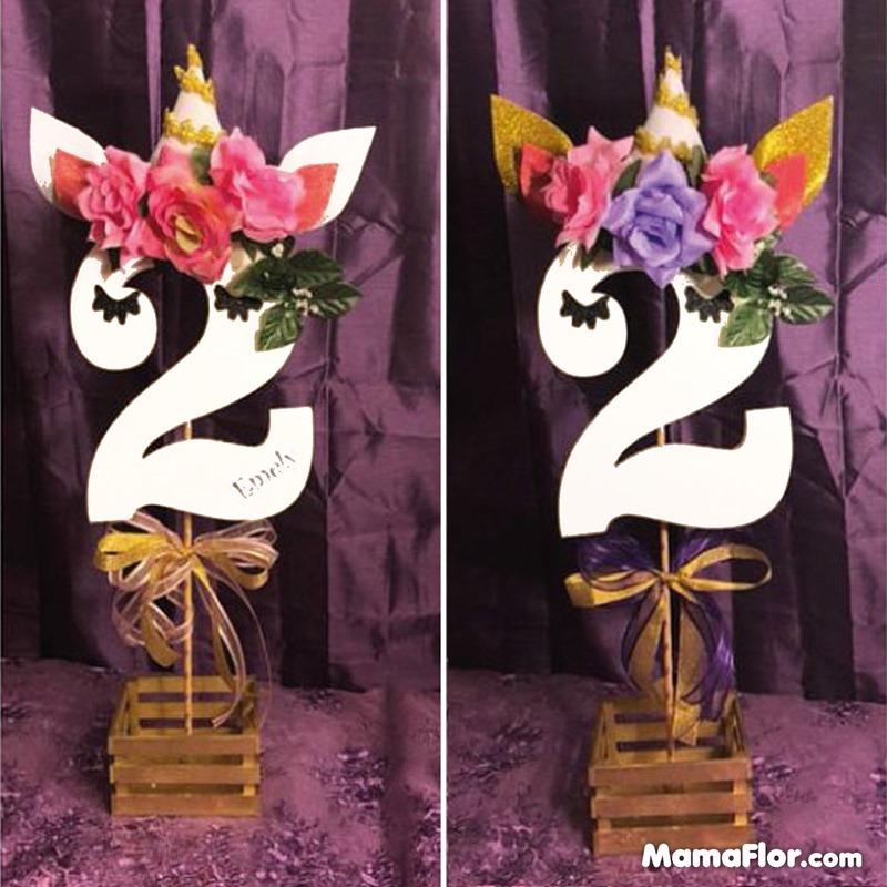 centros de mesa unicornios fiesta 19