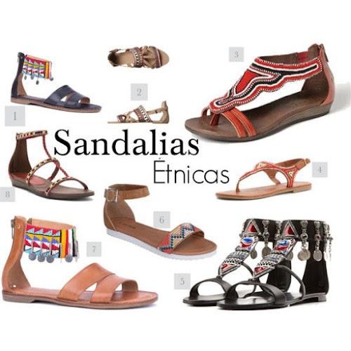 Sandalias estilo tribal