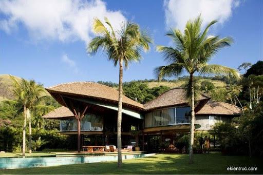 Leaf House 06 750x500 Kiến trúc nhà lá thú vị tại Brazil