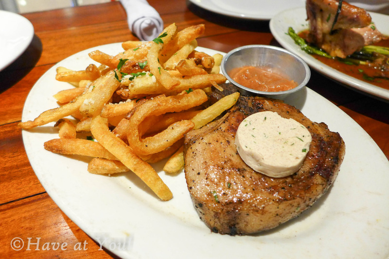 GP porkchop served with fries