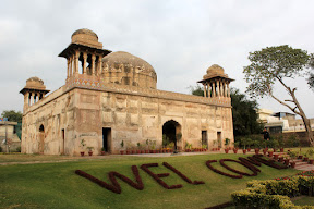 Front view of the tomb, Dai-Anga, Lahore