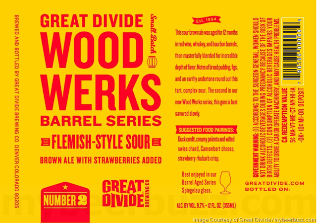 Great Divide Working On Wood Werks Flemish-Style Sour