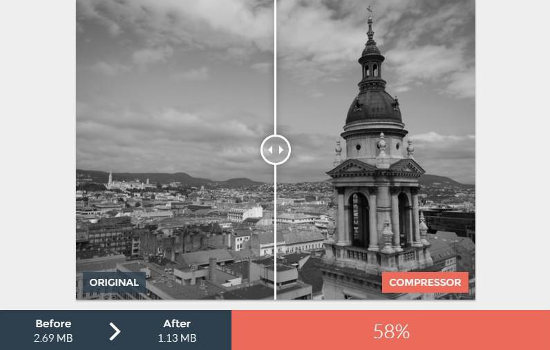 Compresión de imagen .jpg en blanco y negro