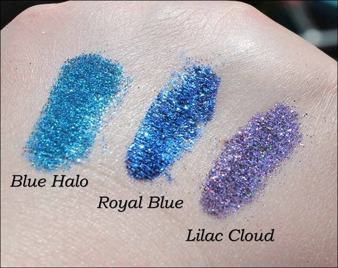 StarGazer Glitter Shaker Swatches Blue Halo Royal Blue Lilac Cloud 2