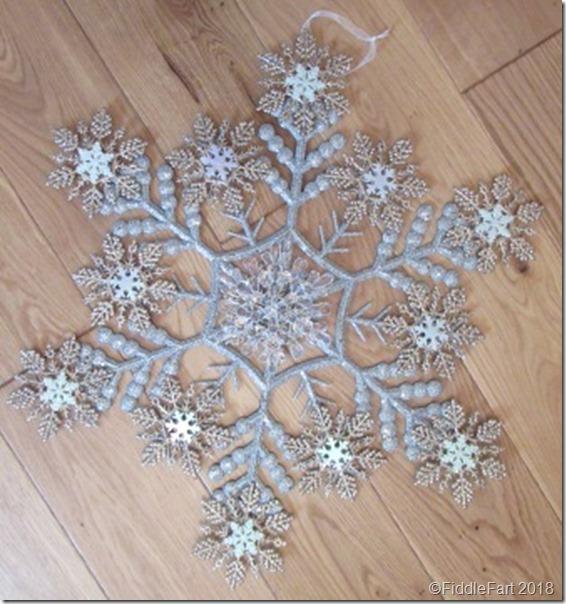 Snowflake door wreath Christmas