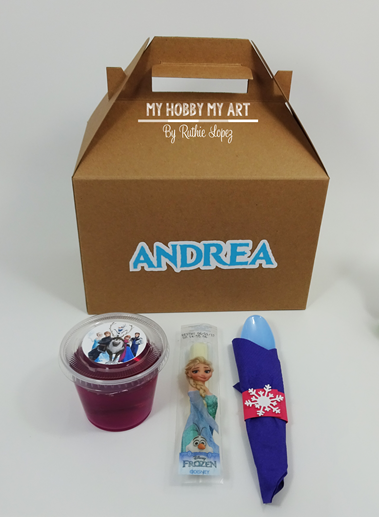Lunch Box, Gable Box, Personalized treat box, Personalized Gable Box, Frozen Themed birthday party, Ruthie Lopez 5