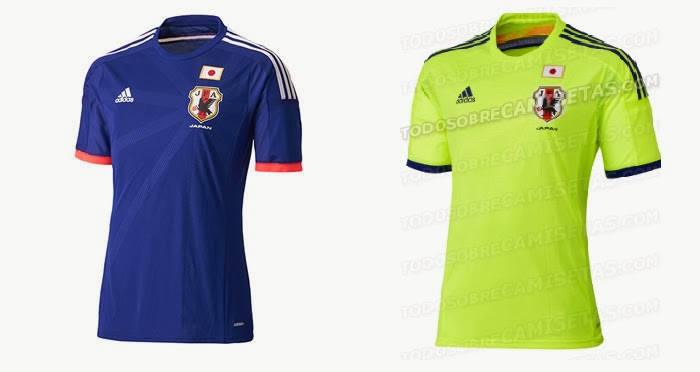 Japan Home Kit 2014 FIFA World Cup Adidas Official Shirt Released