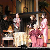 Patrcia Hoffman, Richard Michael Roe, Benita Zahn, Joanne Westervelt and Stephanie G. Insogna in THE ROYAL FAMILY (R) - December 2011.  Property of The Schenectady Civic Players Theater Archive.
