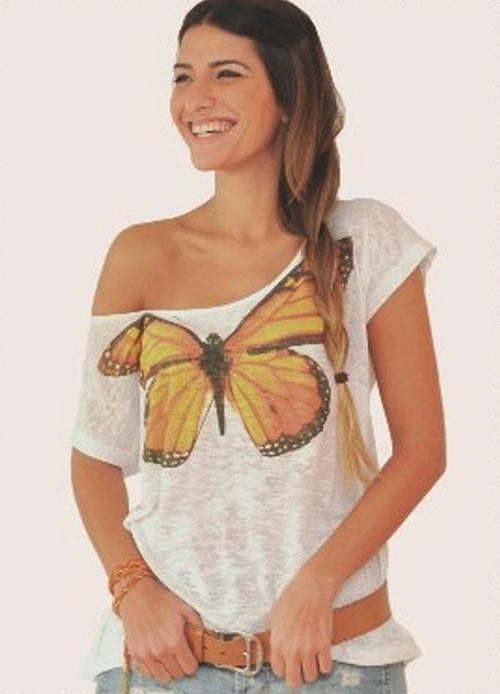 Inspiração borboletas - camiseta