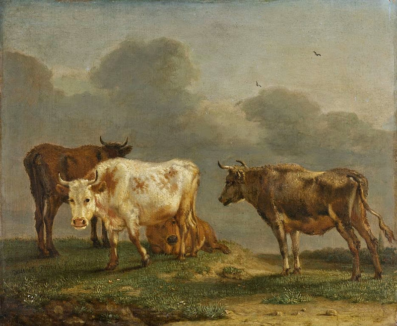 Paulus Potter - Cows in a Meadow