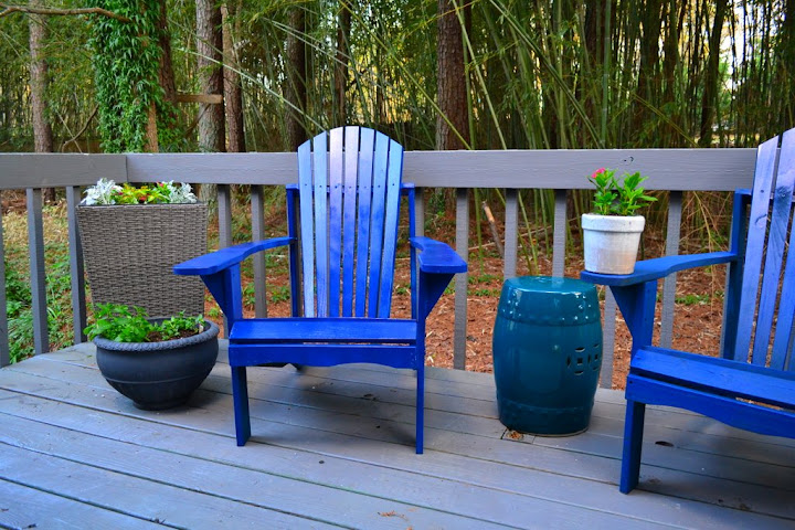 adirondack chair stool painted outdoor furniture