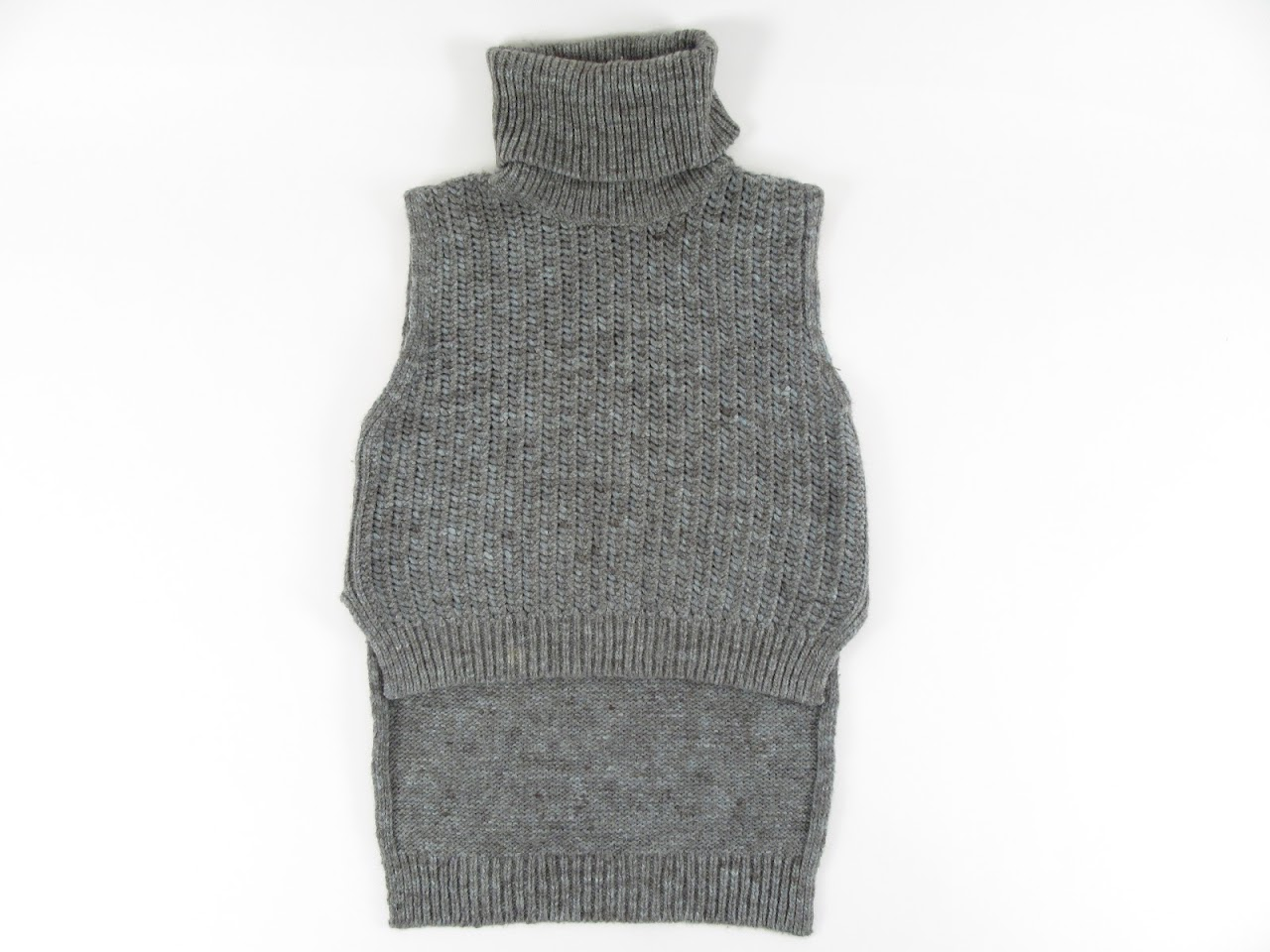 3.1 Phillip Lim Gray Sleeveless Vest Turtleneck