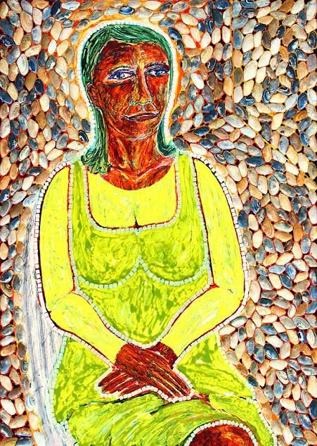 notre dame des anges with shells, frank waaldijk