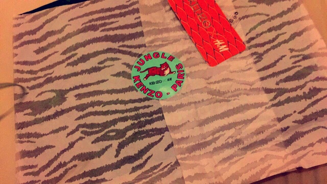 8c2d27792 It arrived in kenzo striped paper with a tiger sticker which I thought was  a really nice touch.