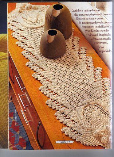 Materiales gr ficos gaby caminos de mesa en ganchillo for Centros de mesa de ganchillo