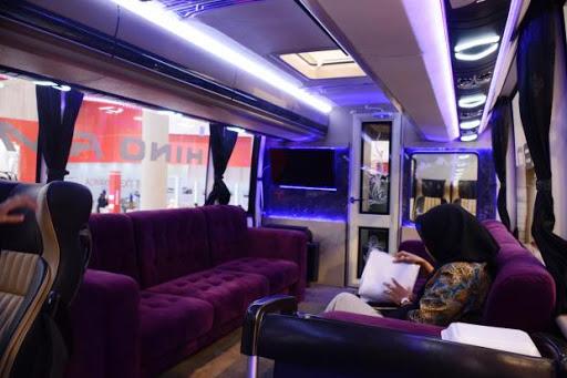 Ini Kemewahan Interior Bus Hino Rm 380 Po Harapan Jaya Di Giias 2017