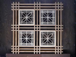 組子細工のテーブル(上からの模様)