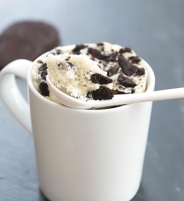 close-up photo of Skinny Cookies and Cream Mug Cake