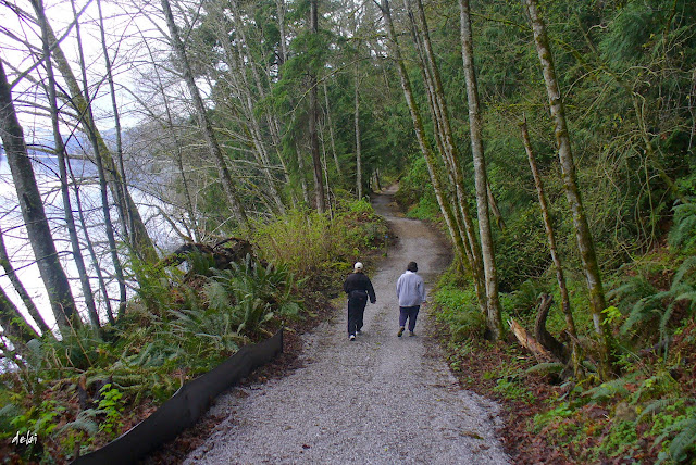 Walking buddies on the Lake Whatcom Trail / Credit: Debra Schleimer