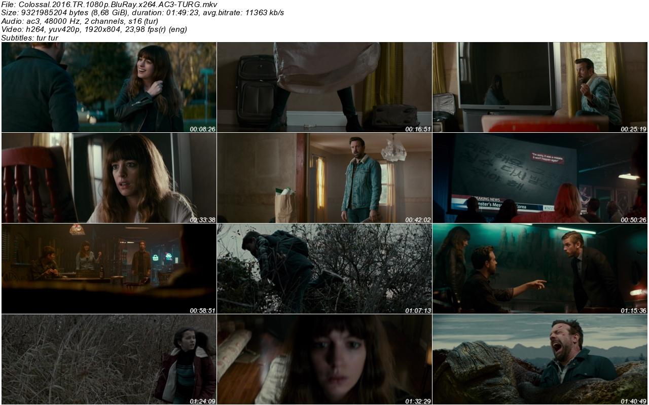 Colossal 2016 - 1080p 720p 480p - Türkçe Dublaj Tek Link indir
