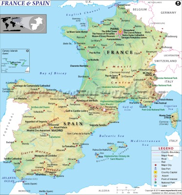 map-of-france-spain