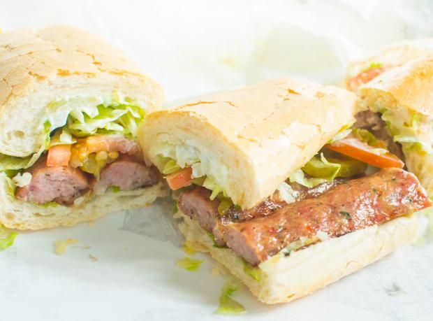 photo of Grilled Smoked Alligator Sausage Link