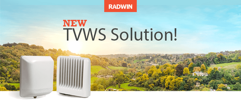 Radwin announced TV White Space (TVWS) solution