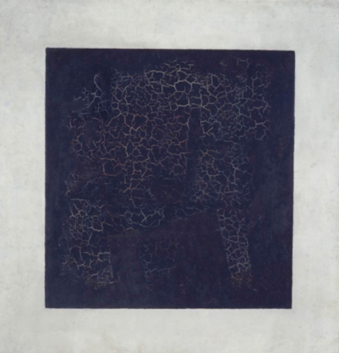 black square abstract painting by Kazimir Malevich