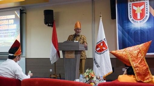 Hadiri Pelantikan Pengurus GEMURA DPD Sumatera Barat, Gubernur: Pemuda adalah Agen Perubahan