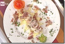Filetto di trota in crosta di prosciutto di Norcia e zafferano