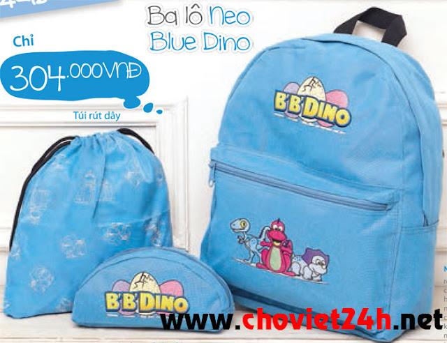 Balo thời trang trẻ em Sophie Neo Blue Dino - SK171BL
