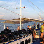 On our way with the diving boat to Monad Shoal on a early morning dive (Malapascua)