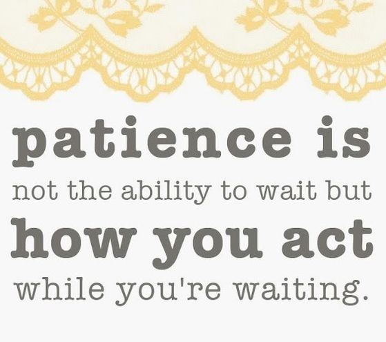 short speech on patience