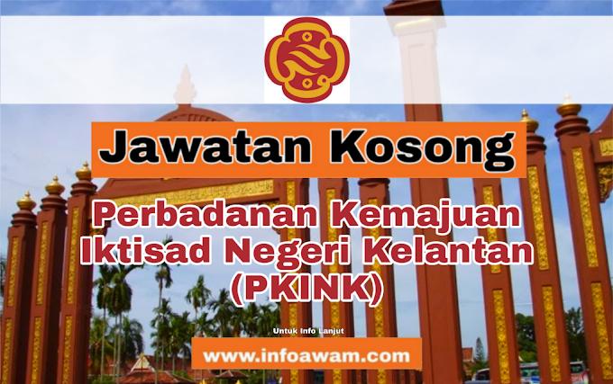 Jawatan Kosong Terkini Di Perbadanan Kemajuan Iktisad Negeri Kelantan (PKINK)