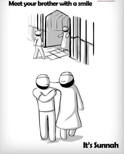 Meet your brother with smile! It's Sunnah